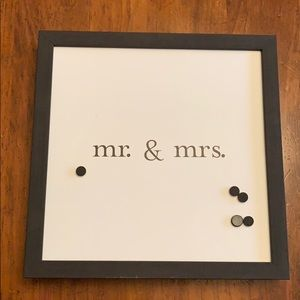 Mr. and Mrs. magnetic wall decor